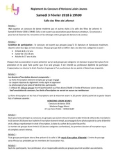 reglement et inscription du concours hlj 2018