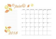 06 calendrier juin 2018 aquarelle a4 paysage recettesbox