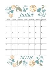 07 calendrier juillet 2018 aquarelle a4 portrait recettesbox