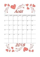 08 calendrier aout 2018 aquarelle a4 portrait recettesbox