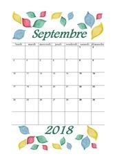 09 calendrier septembre 2018 aquarelle a4 portrait