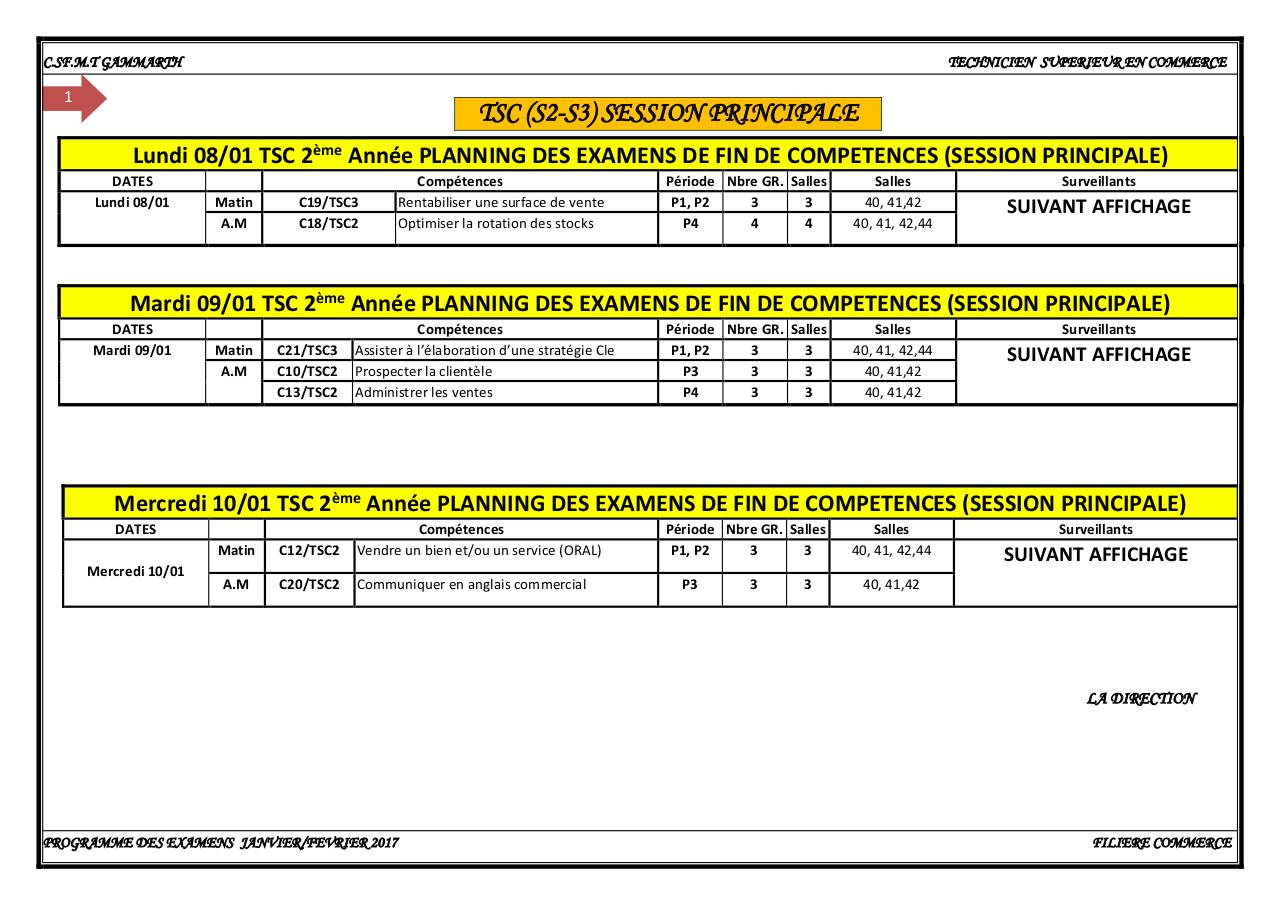 Rectification TSC S2.S3.PLANNING EXAMENS JANVIER 18.pdf - page 1/5