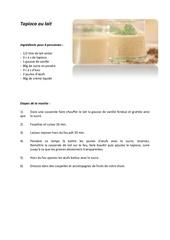 tapioca au lait