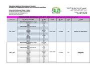 affichage 2st programme generale examens 1 ere