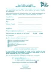 appel a benevoles 2018 formulaire papier