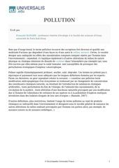 Fichier PDF pollution