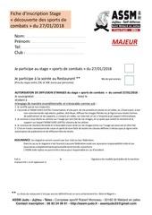 Fichier PDF inscription majeur