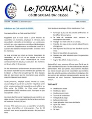 l journal du club social cisssl decembre 2017 r