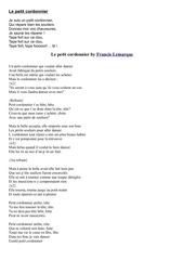 les metiers divers chants et poemes