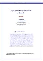loupe sur le secteur bancaire tunisien