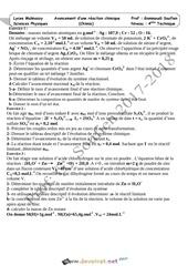 Fichier PDF serie d exercices chimie avancement d une reaction