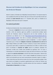 Fichier PDF discours