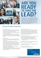 graduate programme job ad france english