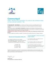 communique liquidation