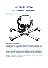 Fichier PDF 15 ans de mafia les preuves a sauvegarder