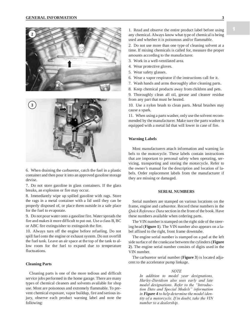 Sportster 1986 2003 Manuel d'atelier Anglais - Fichier PDF