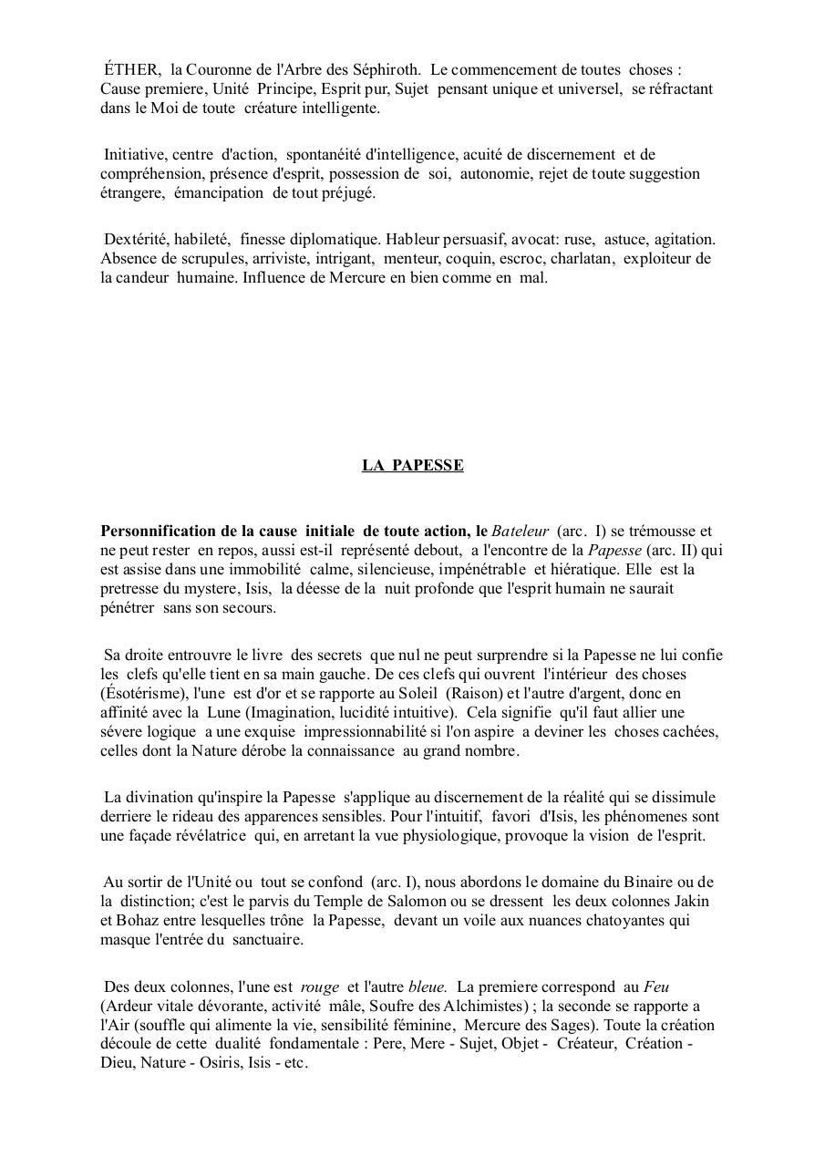 Le Bateleur Par Klub2 Oswald Wirth Tarot Pdf Fichier Pdf