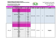 affichage 2st programme generale examens