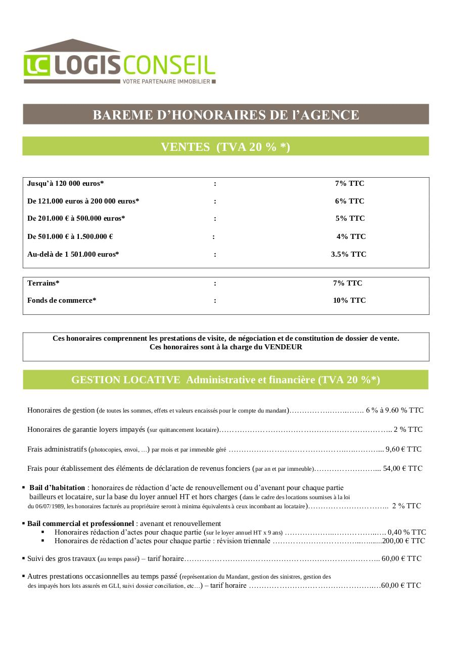 BAREME HONORAIRES.pdf - page 1/2