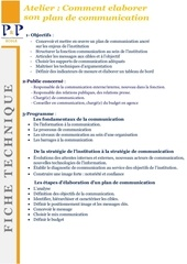 Fichier PDF ft 2017 comment elaborer son plan de communication