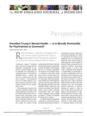 president trump s mental health