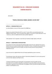 Fichier PDF reglement du jeu concours 1 an de cinema