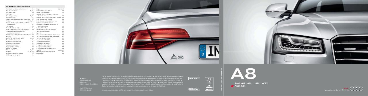 Ancienne Audi A8 Catalogue_gamme_A8.pdf - page 1/122