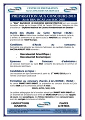 bba iscae licence