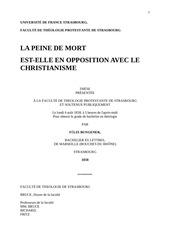 une these protestante contraire au christianisme