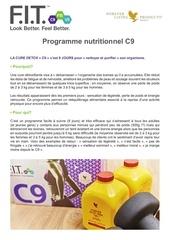 programme nutritionnel c9
