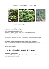 initiation a l agroecologie session de mars 2018