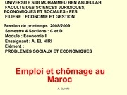 seminaire chomage 1