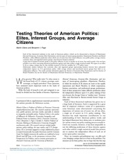 testing theories of american politics
