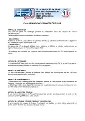 challenge emc promosport 2018
