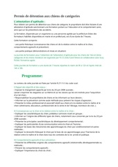 Fichier PDF programme forma chien categorie