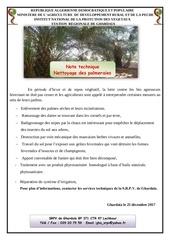 nettoyage des palmeraies 2017