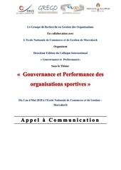 appel a communication sport management mai 2018