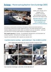Fichier PDF bateau annonce ports nl