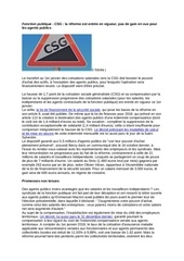 Fichier PDF csg pour les fonctionnaires
