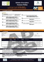 Fichier PDF inscription formation feebat