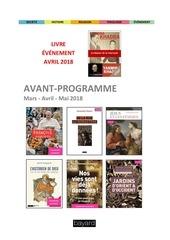 avantprogramme mars mai2018
