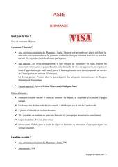visa par pays tdm