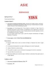 visa par pays