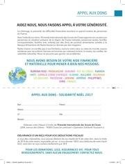 Fichier PDF appel aux dons