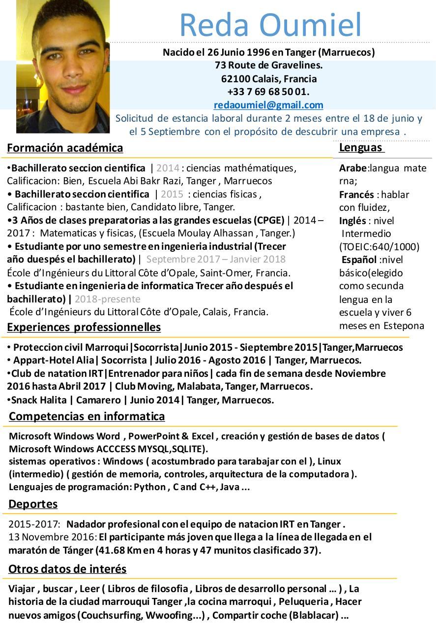 présentation powerpoint par axel maille cv espaÑol reda oumiel pdf