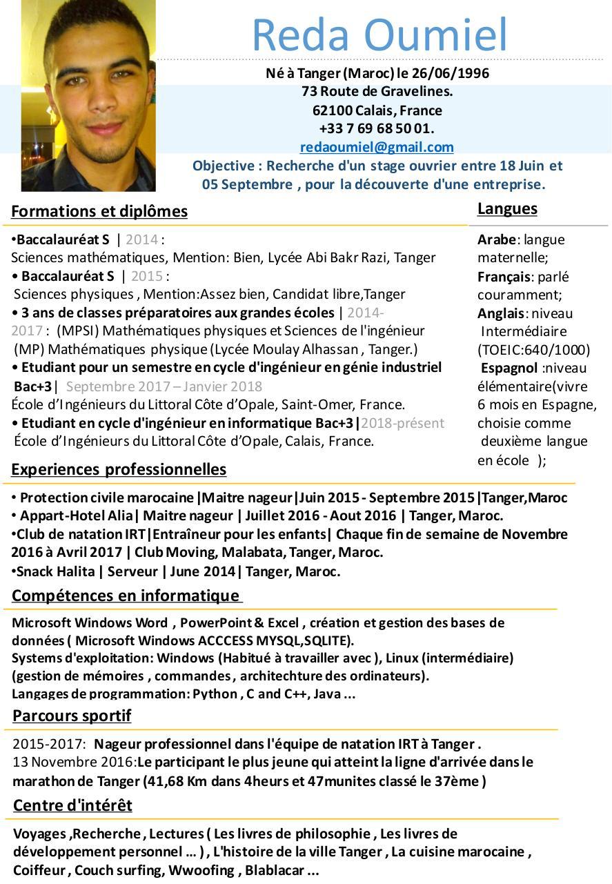 pr u00e9sentation powerpoint par axel maille - cv-fran u00e7ais-reda-oumiel pdf