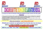 18 01 15 concours sur titres technicien laboratoire