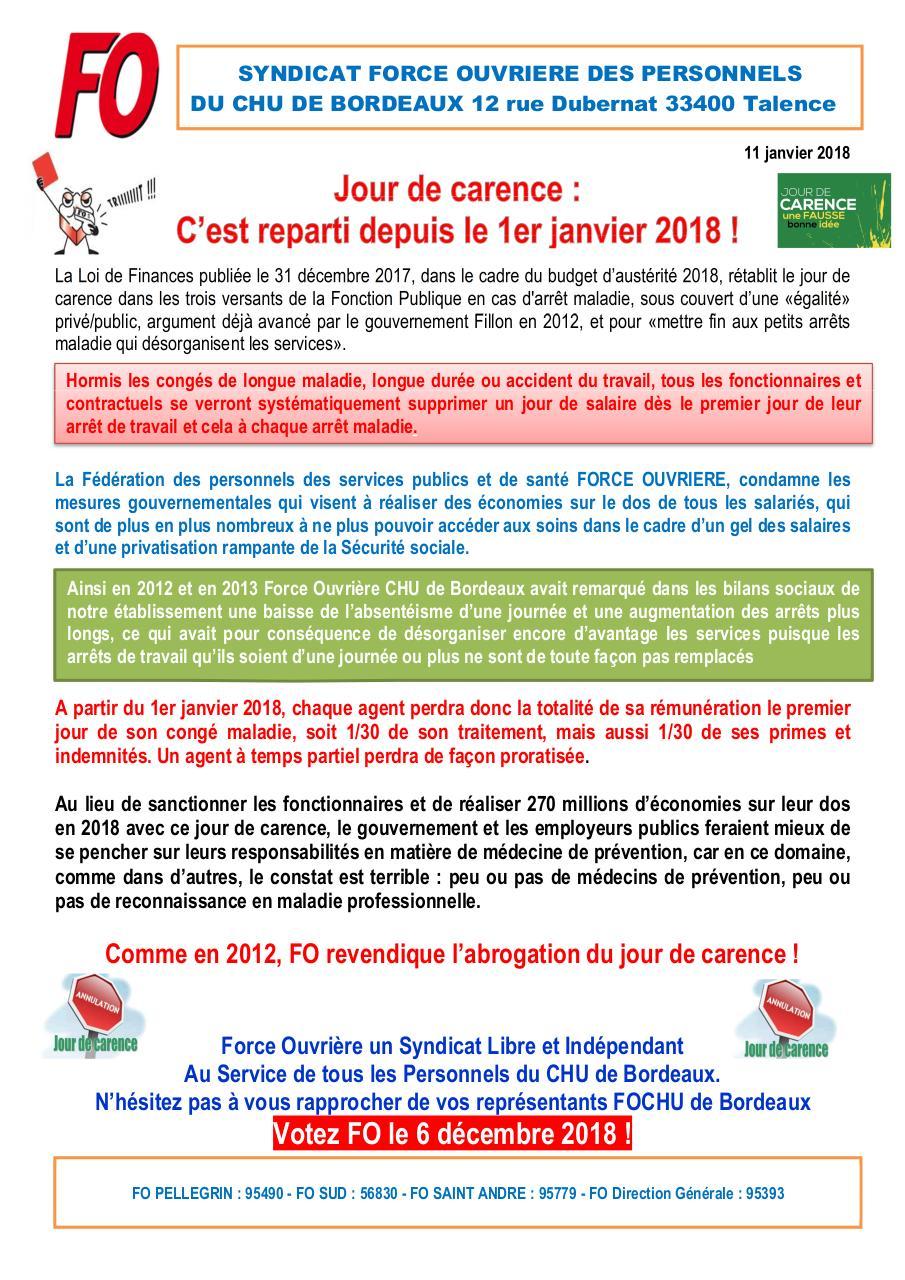 2018 01 11 Tract Journee De Carence Par T12fo Fichier Pdf