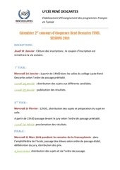 calendrier 2er concours deloquence 2018 1