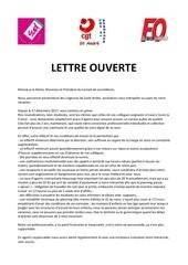 lettre ouverte monsieur le maire